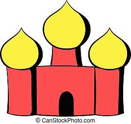 basils, cartone animato, santo, cattedrale, mosca, russia, icona