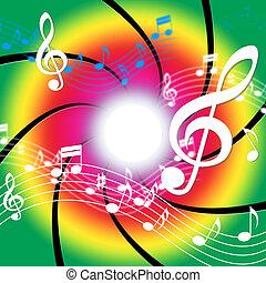 basso, mezzi, note, musica, audio, chiave