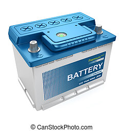 batteria, automobilistico, isolato