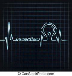 battito cardiaco, fare, innovazione, parola