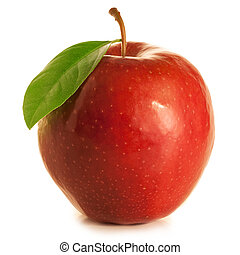 beautifil, foglia, mela, rosso