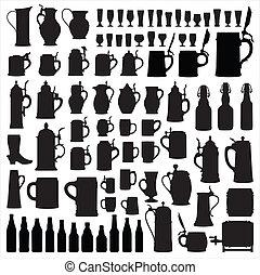 beerware, silhouette