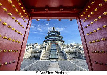 beijing, cielo, tempio