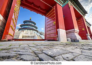 beijing, tempio, cielo
