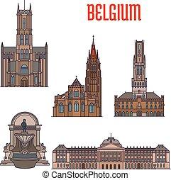 belgio, costruzioni, storico, architettura