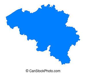 belgio, mappa