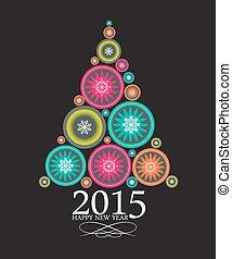 bellezza, astratto, fondo., vettore, anno, 2015, nuovo, natale