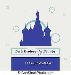 bellezza, nazionale, st, lasciarli, esplorare, basilico, cattedrale, mosca, russia, limiti