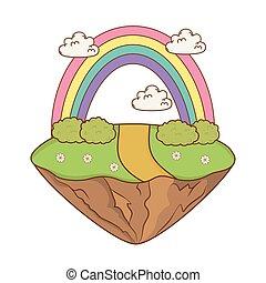 bello, arcobaleno, paesaggio