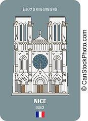 bello, basilica, francia, notre-dama, de