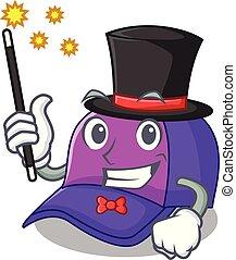 bello, berretto, forma, baseball, mago, cartone animato