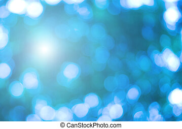 bello, blu, bokeh, luminoso