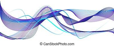 bello, blu, moderno, ondeggiare, fondo, viola, estratti