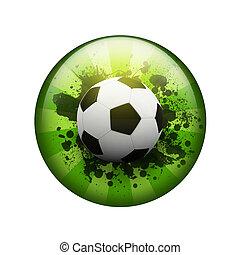 bello, calcio, blots, palla, fondo