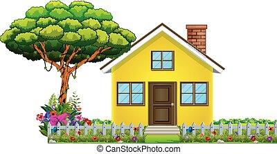 bello, casa, natura