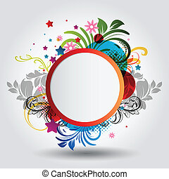 bello, cerchio, fondo