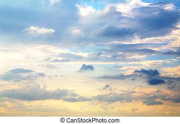 bello, cielo tramonto