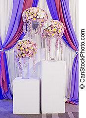 bello, decorazione, fiore, matrimonio
