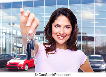 bello, donna macchina, key.