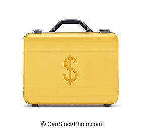 bello, dorato, cartella, business(clipping, dollaro, soldi, path), rappresentare