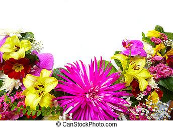 bello, floreale, flowers., cartolina auguri