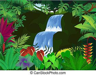 bello, fondo, natura
