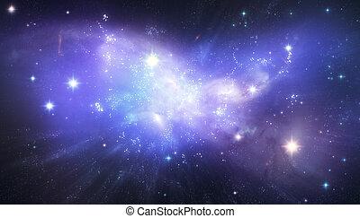 bello, galassia, fondo