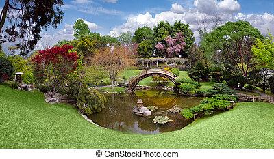 bello, giardino, californ, biblioteca, huntington, botanico