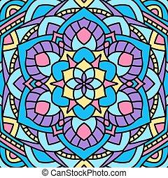 bello, insolito, pattern., mandala., fondo, circolare