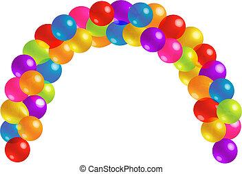 bello, lotti, balloon, arco, trasparenza
