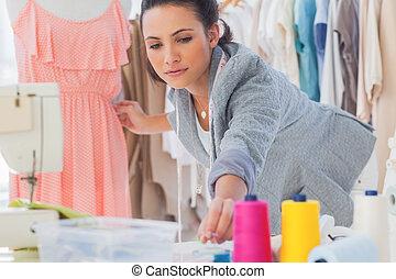 bello, moda, quotazione, vestire, progettista