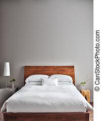 bello, moderno, pulito, camera letto
