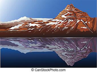 bello, montagna, fondo