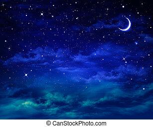 bello, nightly, fondo, cielo