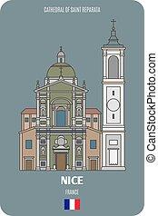 bello, reparata, cattedrale, francia, santo