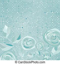 bello, rosa, pattern., eps, retro, 8