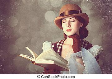 bello, rosso, book., donne
