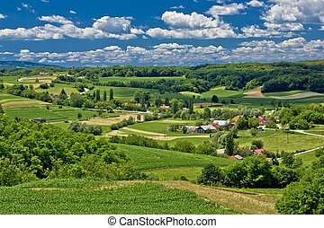 bello, scenario, primavera, verde, tempo, paesaggio