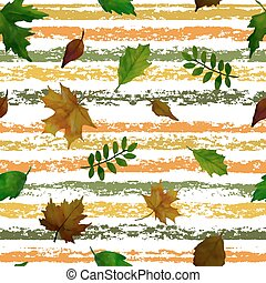 bello, set, foglie, pattern., seamless, fondo.