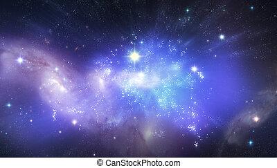 bello, universo, fondo