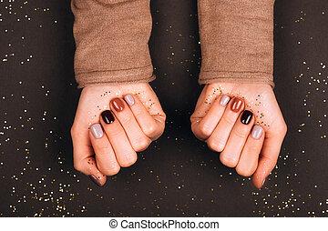 bello, vacanza, manicure