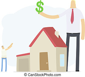 beni immobili, aumenti, agente, credito, tasso
