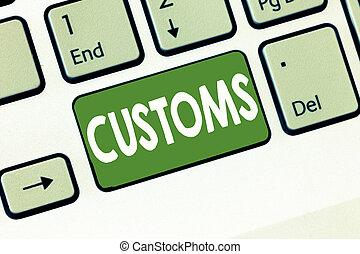 beni, importato, testo, esposizione, ufficiale, segno, concettuale, customs., amministra, foto, dipartimento, collects, doveri