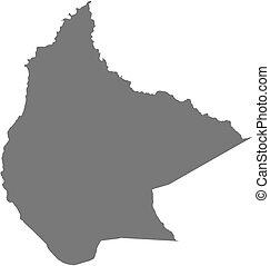 beni, mappa, -, (bolivia)