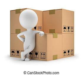 beni, persone, -, consegna, piccolo, 3d