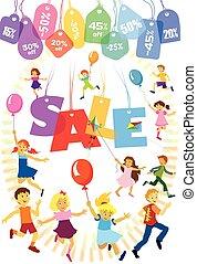 beni, vendita, bambini