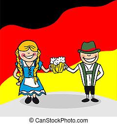 benvenuto, germania, persone