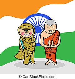 benvenuto, india, persone