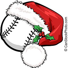 berretto, baseball, santa
