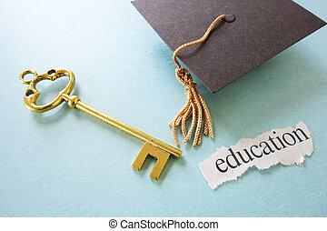 berretto, chiave, grad